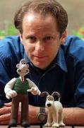 Nick Park and his model: Wallace and Gromit