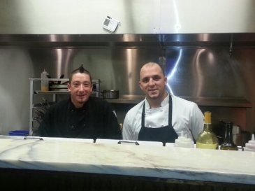 Meet Head Chef, Stephen Griffin (left) and Sous Chef, Sebastian Alzate (right) on the job.