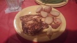 Blackened Mahi - Mahi served with New Potatoes