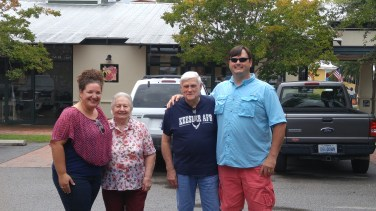 From left: Me, Grandma Dot, Grandpa Fred and Kurt.