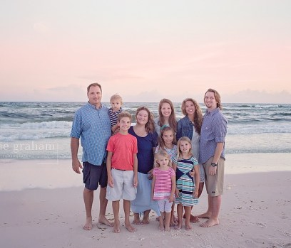 Graham family on the beach