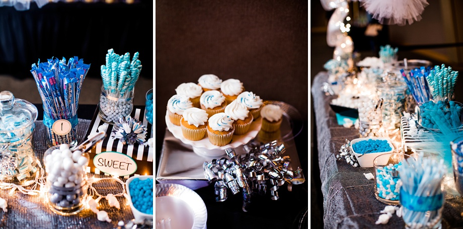 cupcakes dessert and candy bar at Night to Shine