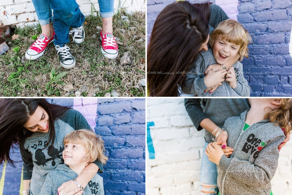 mother-son photos with matching Chucks