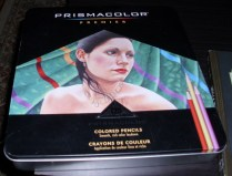 My beloved Prismacolor pencils. Originally bought for my costume sketches. Totally using them for this too.