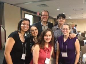 OWFI 2012 - (left to right) Michelle Pierce, KT Hanna, Steven James, Jessica Jones, Heather Cashman, Rebekah Loper