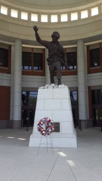 The wreath was laid in memory of the lives lost on 9/11 during the graduation ceremony that morning.