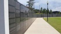 Scaled down replica of the Vietnam Memorial.