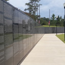 Scaled down replica of the Vietnam Memorial.