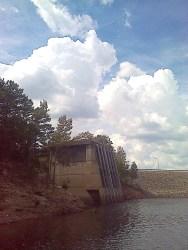 Dam outlook (I think) over Broken Bow Lake.