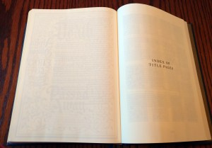 ESV Illuminated Bible Title Page Index
