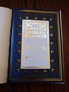 ESV Illuminated Bible Presentation Page