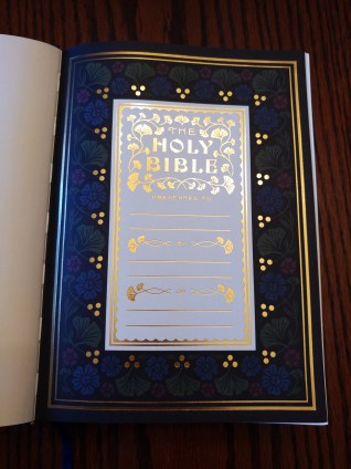 ESV Illuminated Bible Presentation Page