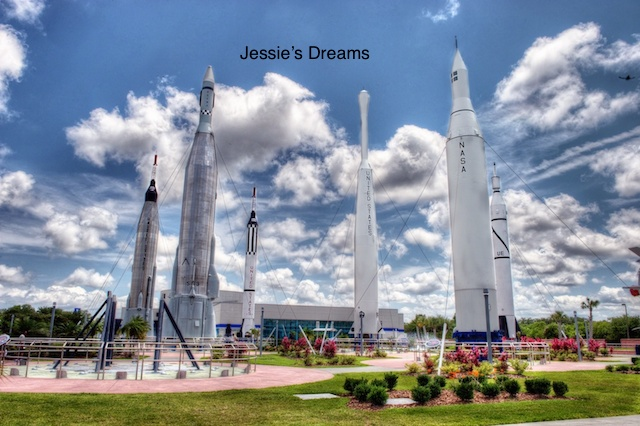 The Rocket Garden at Kennedy Space Center