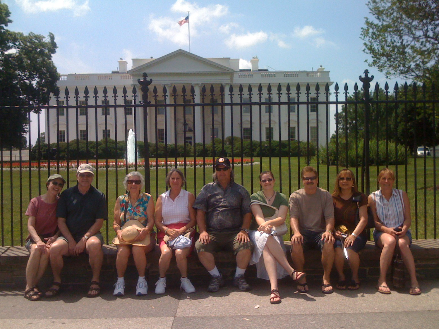Some of my hanai family in the summer of 2008 in Washington, D. C., the year our mom Ivalee received the Jefferson Award.