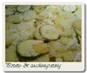 Potatis- & zucchinigratäng