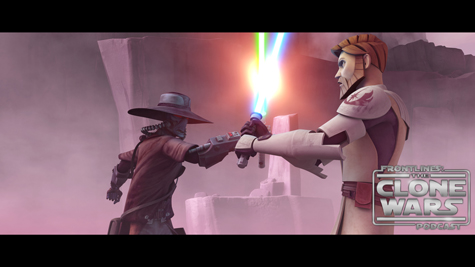 "Bounty hunter Cad Bane clashes with Obi-Wan Kenobi in ""Hunt for Ziro,"" an all-new episode of STAR WARS: THE CLONE WARS premiering at 9:00 p.m. ET/PT Friday, November 12 on Cartoon Network. TM & © 2010 Lucasfilm Ltd. All rights reserved."