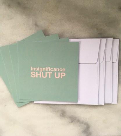 Pack of 4 notecards & envelopes