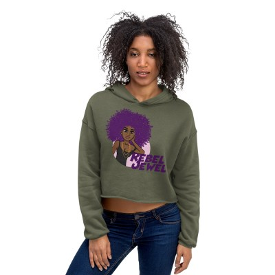 Rebel Jewel Afro Girl Long Sleeve Crop Top