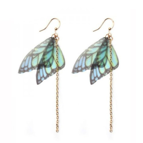 butterfly wings gold chain earrings rebel jewel rebeljewel jewellery