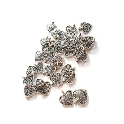 filigree heart charms pendants rebeljewel rebel jewel (3)