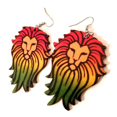 rasta lion wood earrings rebel jewel rebeljewel (3)