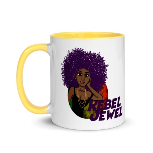 Rasta Rebel Mug - Available in different colours. Add a splash of color to your morning coffee or tea ritual! These ceramic mugs not only have a beautiful design on them