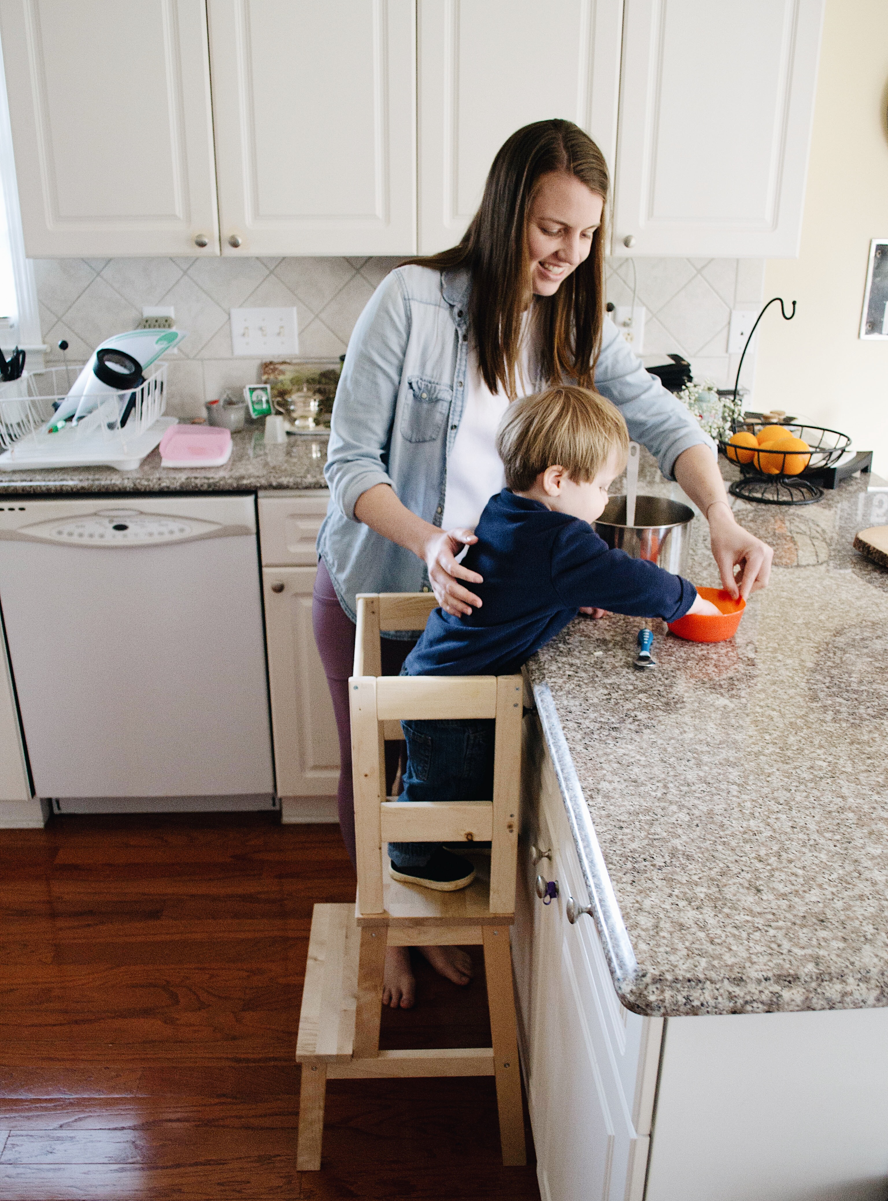 Ikea Hack Toddler Kitchen Helper Stool Rebelle Kitchen