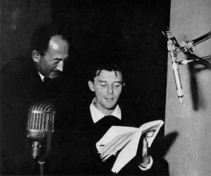Gerard Philipe lisant des poèmes de Paul Eluard pour Pierre Seghers, Paris 1955 - © photo : Virginie Seghers - cc