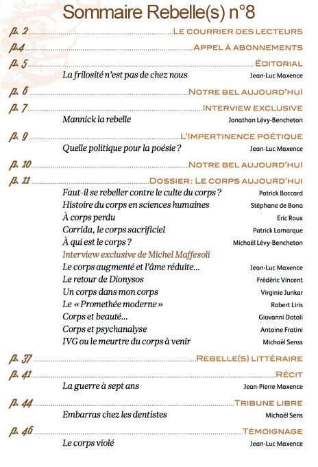 sommaire-rebelles-magazine-n8