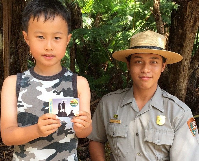 Child with Forest Ranger