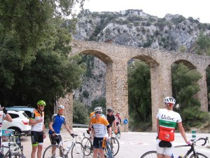Cyclists in Mallorca
