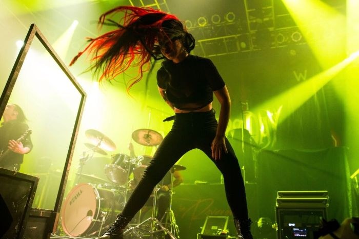 New Years Day performing at House of Blues Chicago on May 12, 2019.