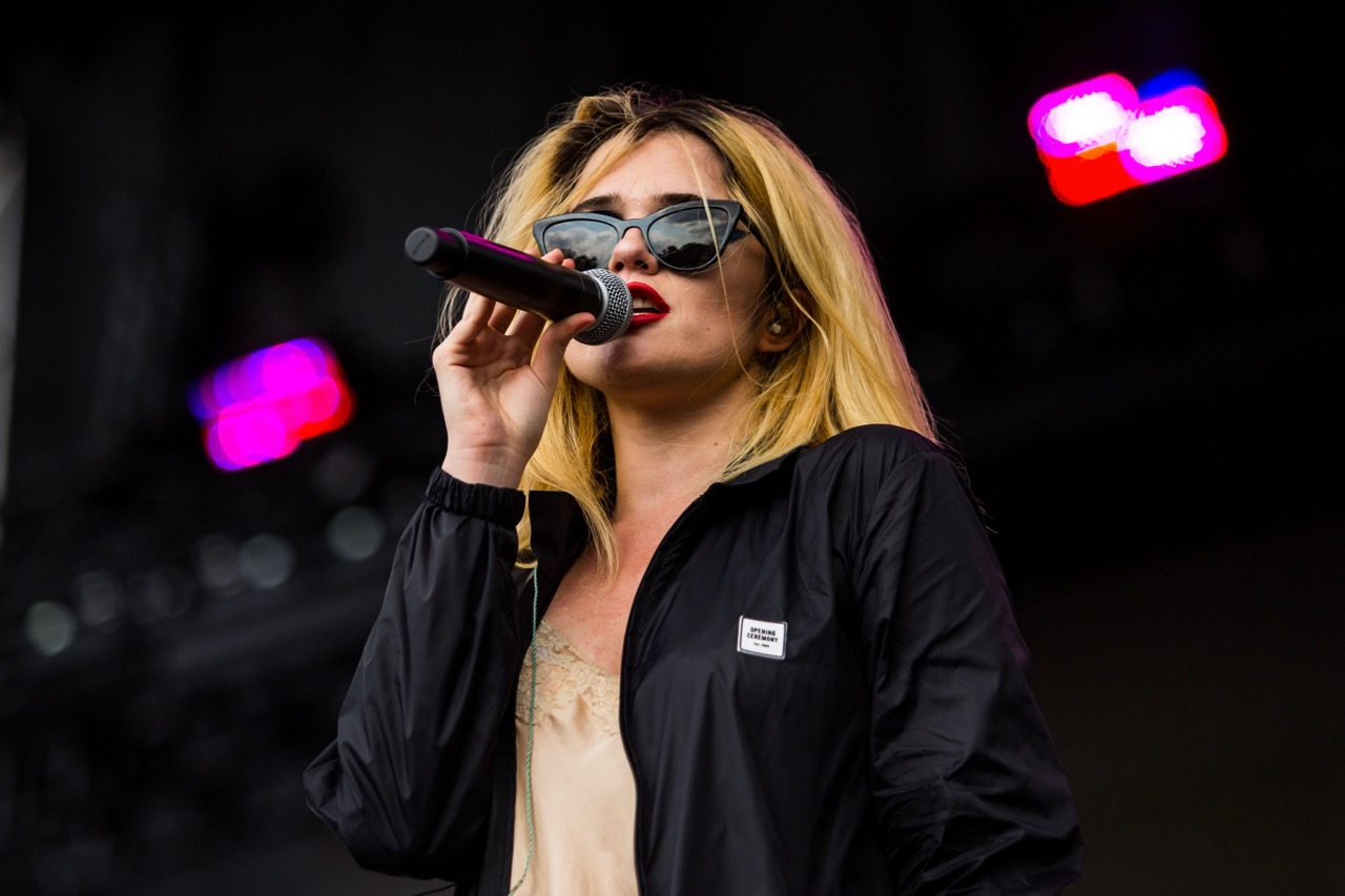 Sky Ferreira performing at Pitchfork Music Festival on Friday, July 19, 2019