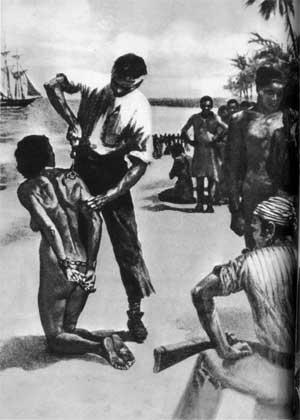 NoireMiseEnEsclavage c748c 8 Janvier 1454 : l'Église catholique et le Pape Nicolas V bénissent l'esclavage et la traite négrière !