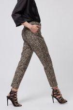 Leopard Print Cigarette Trousers