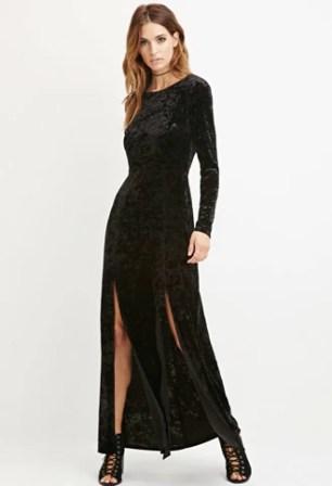 Velvet Maxi Dress Forever 21