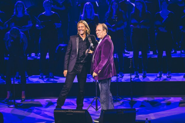 Eric Whitacre with Hans Zimmer Photo © iTunes Festival 2014