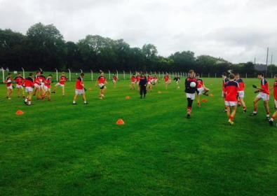 Cork U14 footballers training in Ballygarvan GAA Club
