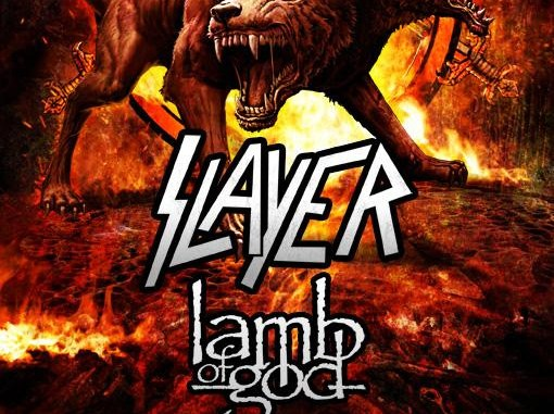 behemoth, Slayer, Lamb of God concert banner