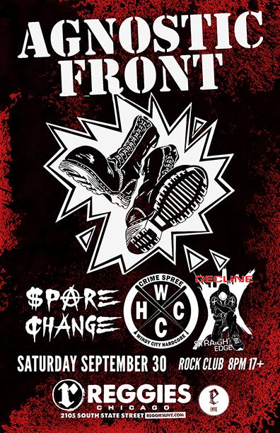 Agnostic Front tour poster