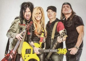 Lita Ford and her band, 2017