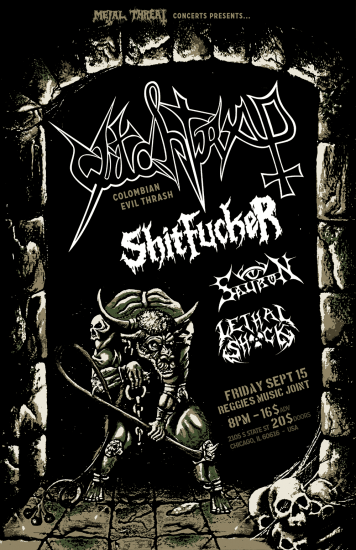 Witchtrap tour poster