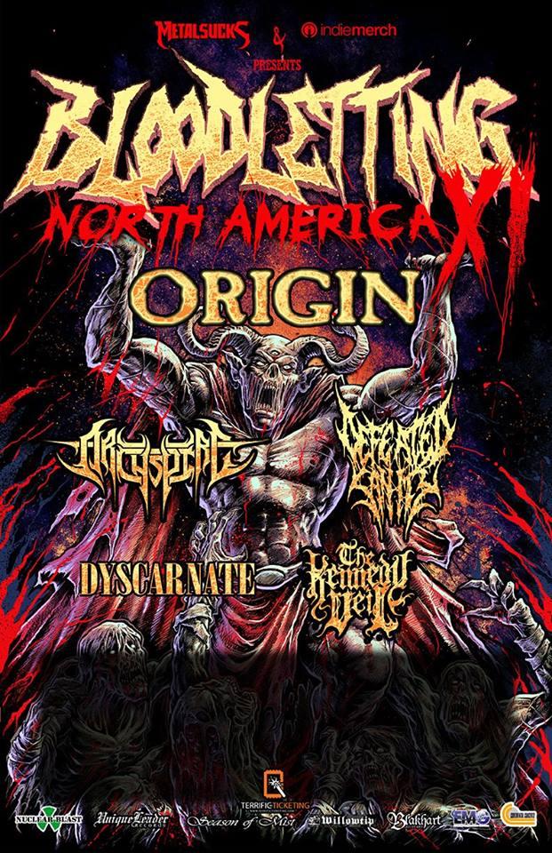 Origin, headlining the Bloodletting Tour XI