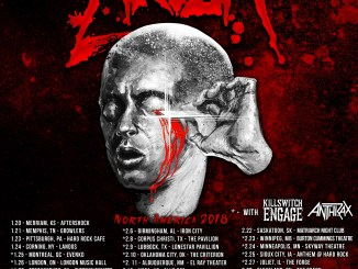 Anthrax, Killswitch Engage, and Havok tour poster