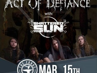 act of defiance with Shattered Sun for a Rebel Radio Show at The Forge, March 15, 2018
