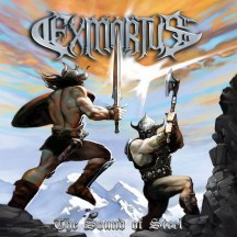 """Exmortus album cover for """"The Sound of Steel"""""""