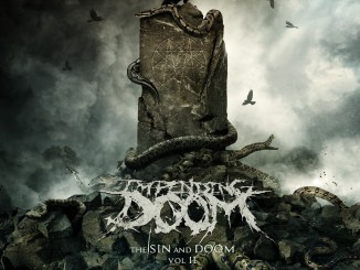 "Impending Doom LP cover for ""The Wretched and Godless"""