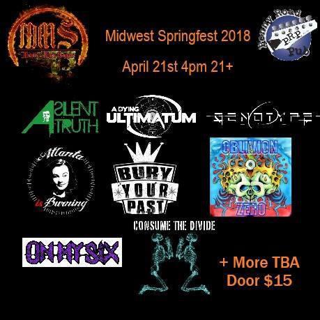 Midwest Springfest 2018 at enny Road Pub Saturday, April 21, 2018