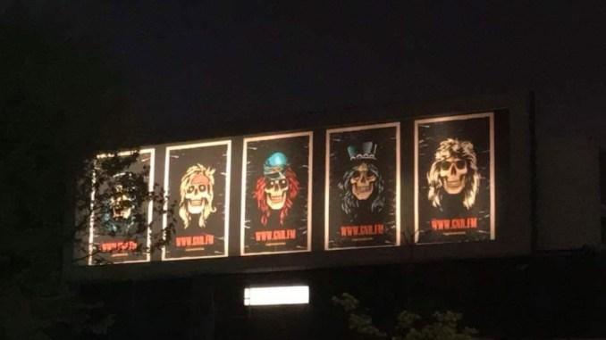 Guns N' Roses teasing billboard