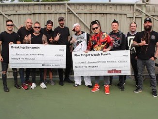 Five Finger Death Punch and Breaking Benjamin donate a portion of their North American Summer tour to charities close to their hearts